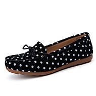 Women's Flats Spring / Summer Comfort Leather Casual Flat Heel Slip-on Black / Blue / Brown / Pink Walking