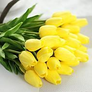 billiga Heminredning-Konstgjorda blommor 1 Gren Pastoral Stil Tulpaner Bordsblomma