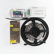 z®zdm 600x5050 rgb duas carreiras AC110-240V 120W para dc12v10a transformador e controlador 24IR 12v / 12a