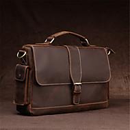 Men Bags Cowhide Shoulder Bag for Casual Office & Career Coffee