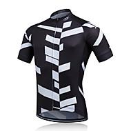 Fastcute Homens Manga Curta Camisa para Ciclismo - Branco Preto Moto Camisa/Roupas Para Esporte, Secagem Rápida, Respirável, Redutor de