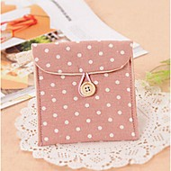 Women Bags Linen Coin Purse for Professioanl Use Coffee Green Pink