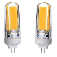 billiga Belysning-2pcs 3W 300-350lm G4 LED-lampor med G-sockel T 1 LED-pärlor COB Bimbar Vattentät Dekorativ Varmvit Kallvit Naturlig vit 110-130V 220-240V