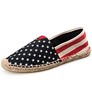 cheap Women's Slip-Ons & Loafers-Unisex Shoes Canvas Spring Fall Espadrilles Flats Flat Heel Polka Dot for Athletic Casual Black