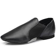 billige Jazz-sko-Dame Jazz Lær Flate Innendørs Profesjonell Flat hæl Svart Kan spesialtilpasses