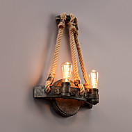 Vintage Industrial Style Hemp Rope Wall Light Metal Bedroom / Dining Room / Kitchen  Game Room