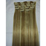 "15""Clip In Real Human Hair Extensions #18/613  8Pcs/70g"