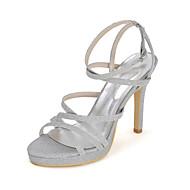 Sandaletler-Düğün Elbise Parti ve GeceParıltılı-Stiletto Topuk-Siyah Mavi Kırmızı Gümüş Altın-Kadın