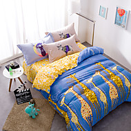 Giraffe brief style 4piece bedding sets print duvet cover Sets 100% Cotton Bedding Set Queen Size