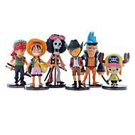 Modele ekspozycyjne Zabawki Zabawne Myśliwiec Plastikowy Monkey D. Luffy 6 Sztuk Dla dziewczynek Dla chłopców Boże Narodzenie Urodziny