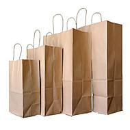 geel kraftpapier zakken cadeau verpakking draagbare kleding schoenendoos gedrukt papieren zak een zak met meeneem tien 21 * 27 * 11