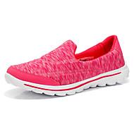 Dame-Tekstil-Flat hæl-Rund tå / Flate sko-一脚蹬鞋、懒人鞋-Fritid-Svart / Lilla / Rød