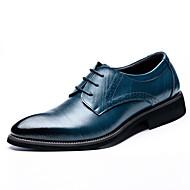 お買い得  紳士靴-男性用 靴 レザー 春 / 秋 コンフォートシューズ / ファッションブーツ オックスフォードシューズ ブラック / Brown / ブルー / パーティー / フォーマルシューズ / 革靴