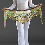 Accesorios de Baile Pañuelos de Cadera para Danza del Vientre Mujer Rendimiento Crepé Lentejuela Cintura Baja Bufanda Hip y cinta de Danza del vientre no incluidas.