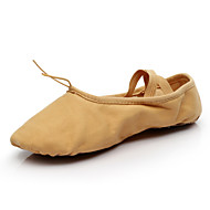 "cheap Ballet Shoes-Women's Ballet Canvas Flat Indoor Professional Lace-up Flat Heel Camel Under 1"" Non Customizable"