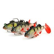 """3 pçs Iscas Shad Jerkbaits Jig Head Vermelho g/Onça,65 mm/2-5/8"""" polegada,Plástico SuavePesca de Mar Rotação Pesca de Gancho Pesca de"""