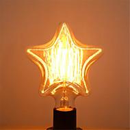 pentagram edison 40W E27 lyspærer vintage wolframlampe antikke dekorere belysning for anheng (AC220-240V)
