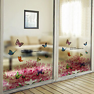 cheap Window Film & Stickers-Art Deco Contemporary Window Film, PVC/Vinyl Material Window Decoration Dining Room Bedroom Office Kids Room Living Room Bath Room Shop
