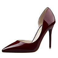 Femme Chaussures Cuir Verni Printemps Eté Nouveauté Escarpin Basique Chaussures à Talons Talon Aiguille Bout pointu Creuse Pour Habillé