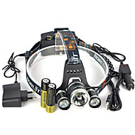 cheap Flashlights & Camping Lanterns-Headlamps Safety Lights LED 13000 lm 1 Mode LED with Batteries and Chargers Super Light Suitable for Vehicles Anglehead