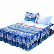 levne Sady povlečení-Napínací prostěradlo - Polyester Reaktivní barviva Květinový postelový sukýnka 1 ks