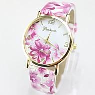 Geneva Žene Kvarc Ručni satovi s mehanizmom za navijanje / Rasprodaja Koža Grupa Cvijet Ležerne prilike Moda Multi-boji