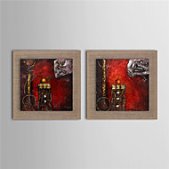 2 Panel Modern Wall Art Pictures Oil Painting On Linen Home Decoration Abstract Artwork Decor Painting With Frame