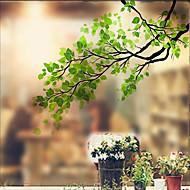 60 * 58cm סרט חלון זכוכית אטום חלביות זכוכית פרחים ססגוניות מדבקות אמבטיה דקורטיבית דלת זזה