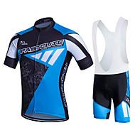 Fastcute Heren Korte mouw Wielrenshirt met strakke shorts - Zwart / blauw Grote maten Fietsen Pakken Ademend 3D Pad Sneldrogend Zweetafvoerend Sport Polyester Lycra Sporten Bergracen Wegwielrennen