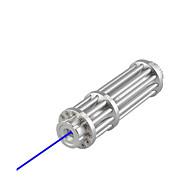 u`king ZQ-15b синий лазерный указатель / регулируемый набор фокус (5w 445nm серебро)