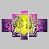 Χαμηλού Κόστους Artist - John Li-Ζωγραφισμένα στο χέρι Αφηρημένο οποιοδήποτε σχήμα Καμβάς Hang-ζωγραφισμένα ελαιογραφία Αρχική Διακόσμηση Πεντάπτυχα