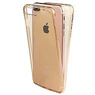 Käyttötarkoitus iPhone X iPhone 8 kotelot kuoret Other Kokonaan peittävä Etui Yhtenäinen väri Pehmeä TPU varten Apple iPhone X iPhone 8