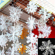 30pcs christmas snow flakes white snowflake ornaments holiday christmas tree decortion festival party - Cheap Christmas Tree Decorations