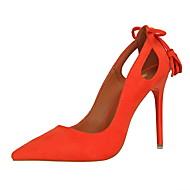 baratos Sapatos Femininos-Feminino-Saltos-Conforto-Salto Agulha-Preto / Rosa / Vermelho / Cinza / Laranja / Caqui-Camurça-Social