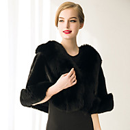 cheap -Sleeveless Faux Fur Wedding / Party Evening / Casual Women's Wrap With Feathers / Fur Capelets