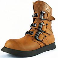 お買い得  メンズブーツ-男性用 靴 ナパ革 春 夏 秋 冬 ブーツ ベックル のために カジュアル アウトドア Brown