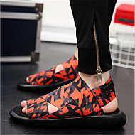 זול -בגדי ריקוד גברים נעליים טול קיץ סתיו סנדלים ל קזו'אל לבן שחור כתום סגול