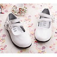 baratos Sapatos de Menina-Para Meninas Sapatos Couro Envernizado Primavera Verão MaryJane Rasos Caminhada Gliter com Brilho para Branco / Preto / Vermelho