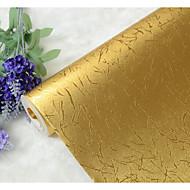 ארט דקו 3D פס טפט עבור בית יוקרתי וול כיסוי , רדיד זהב חוֹמֶר דבק נדרש טפט , Wallcovering חדר