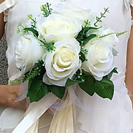 "Wedding Flowers Round Roses Bouquets Wedding Party/ Evening Satin 8.66""(Approx.22cm)"