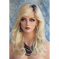 Long wavy Synthetic Hair Blonde Wig For Women Fashion Wig Heat Resistant