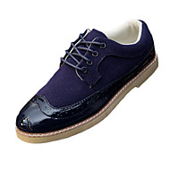billige Skosalg-Herre sko PU Vår Høst Komfort Oxfords Til Avslappet Svart Brun Blå