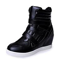 Teletalpú-Parafa-Női cipő-Tornacipők-Szabadidős / Alkalmi-Bőrutánzat-Fekete / Fehér