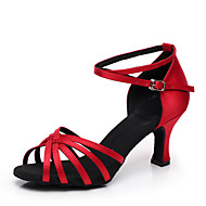Customized Fashion Damen Obermaterial Satin Latin Dance Schuhe (weitere Farben)