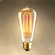 25w edison st64 straight wire lyspærer til salgs edison art dekorasjon lys
