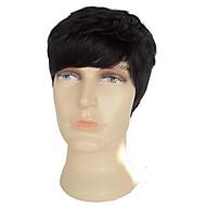 billige -Kvinder Blondeparykker med menneskehår Ekte hår Helblonde 130% tetthet Rett Parykk Svart Naturlig hårlinje Til fargede kvinner 100 %
