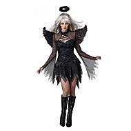 Falden engel Cosplay Kostumer Festkostume Dame Halloween Festival / Højtider Halloween Kostumer Udklædning Sort Patchwork