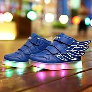 baratos Sapatos de Menino-Para Meninos Sapatos Courino Primavera Conforto / Tênis com LED Tênis Caminhada Velcro / LED para Branco / Azul