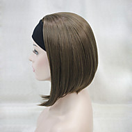 New Fashion 3/4 Wig With Headband Women's Short Straight Synthetic Half Wig 6 Color Selection