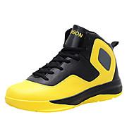 Masculino-Tênis-Conforto-Rasteiro-Amarelo Vermelho Branco-Couro Ecológico-Para Esporte